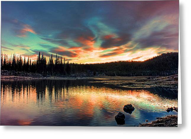Sparks Lake Hues Greeting Card