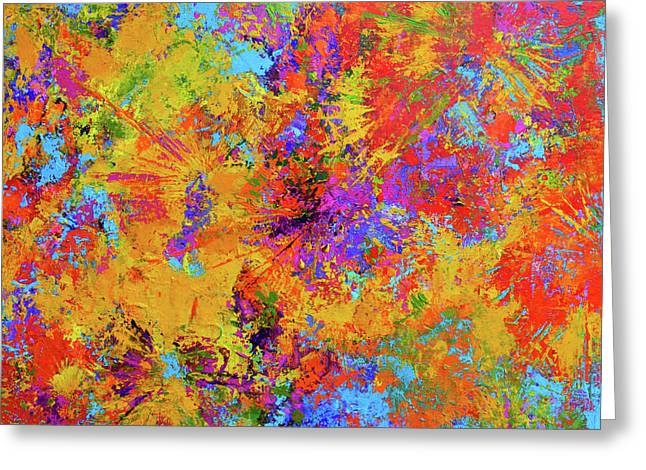 Sparks Of Consciousness Modern Abstract Painting Greeting Card