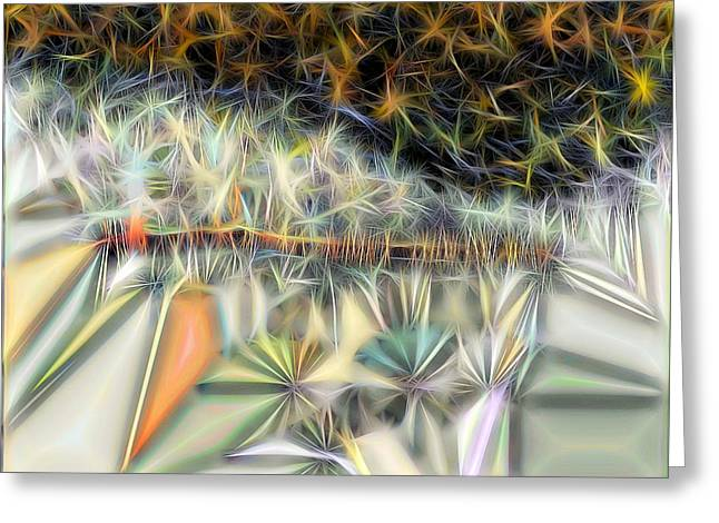 Greeting Card featuring the digital art Sparks by Ron Bissett