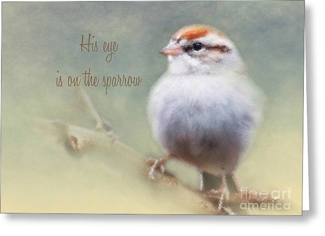Serendipitous Sparrow - Phrase Greeting Card