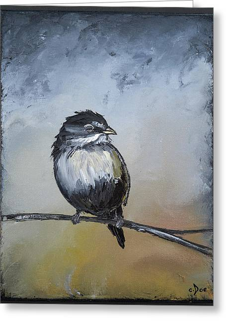 Sparrow Greeting Card by Carolyn Doe