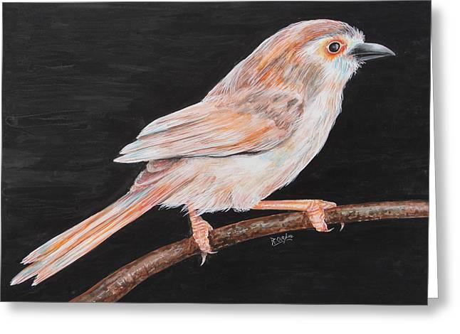 Sparrow Greeting Card by Rajesh Chopra