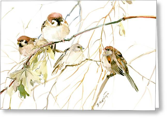 Sparrows Greeting Card