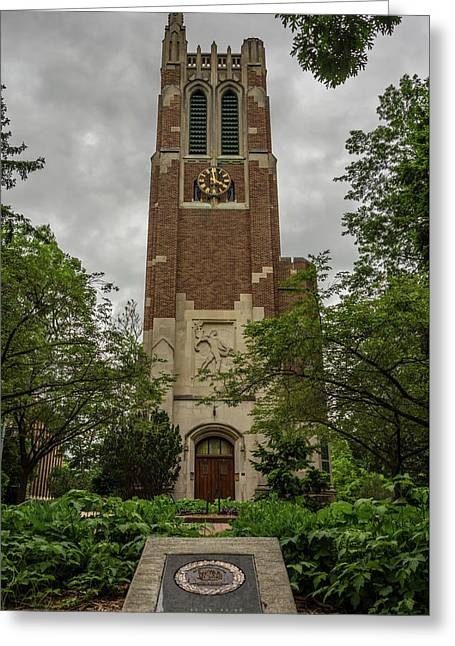 Spartan Bell Tower Greeting Card
