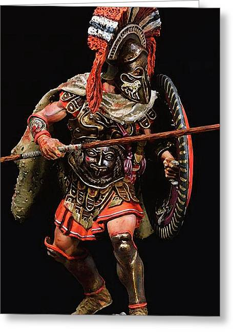 Spartan Hoplite - 05 Greeting Card