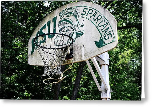 Sparty Practice Hoop Greeting Card by Michelle Calkins