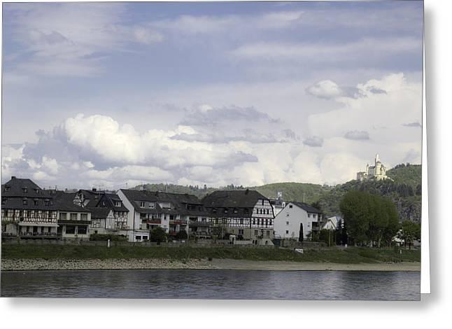 Spay Germany Looking Towards Marksburg Castle Greeting Card by Teresa Mucha