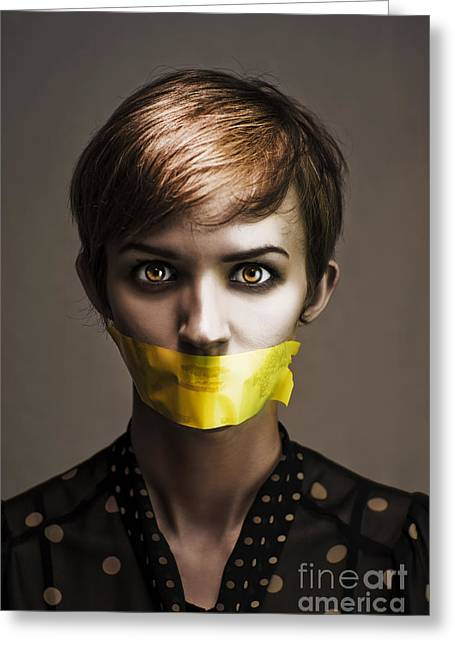 Speak No Evil Greeting Card by Jorgo Photography - Wall Art Gallery