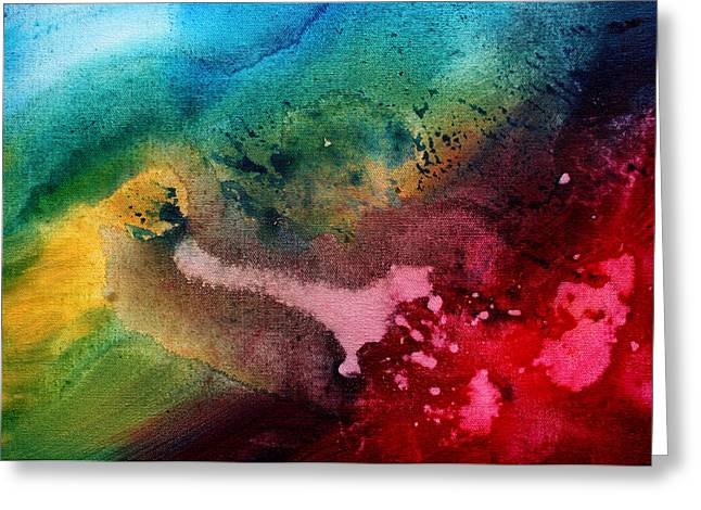 Speak To Me By Madart Greeting Card by Megan Duncanson