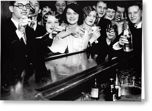 Speakeasy Toast - Prohibition C. 1929 Greeting Card