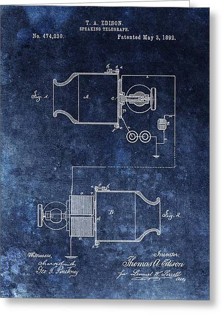 Speaking Telegraph Patent Greeting Card by Dan Sproul