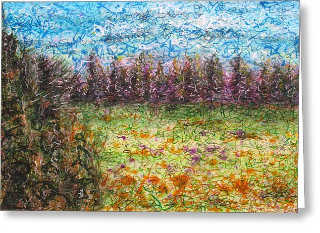 Speaking The Landscape Greeting Card by Jason Messinger