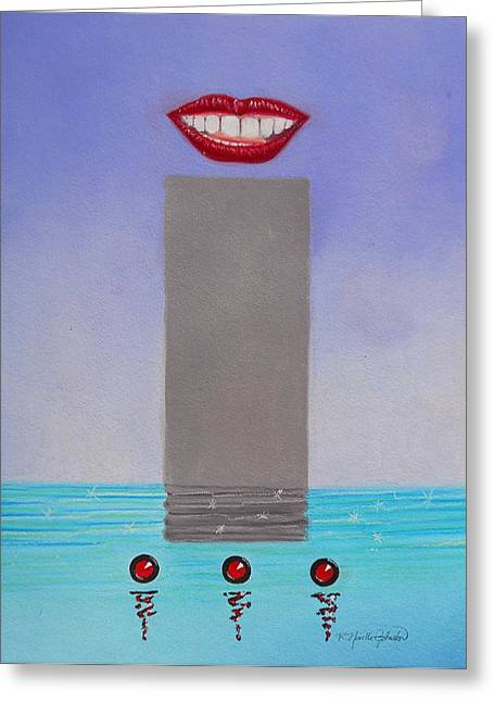 Speaks So Highly Of You Greeting Card by R Neville Johnston