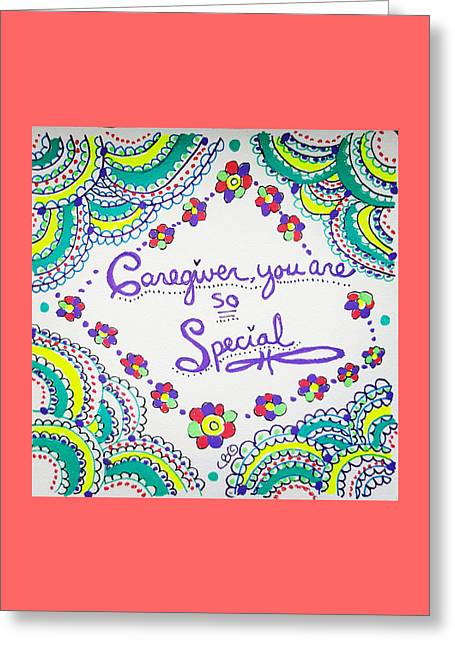 Greeting Card featuring the drawing Special by Carole Brecht