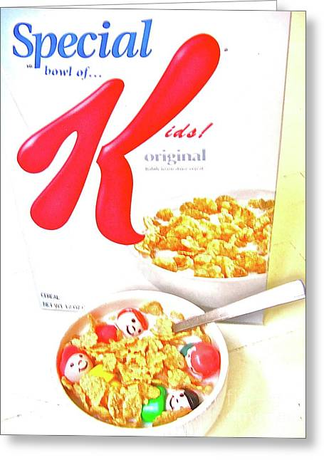 Cereal Digital Greeting Cards - Special Kids Greeting Card by Ricky Sencion