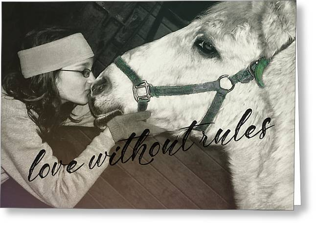 Special Pony Quote Greeting Card by JAMART Photography