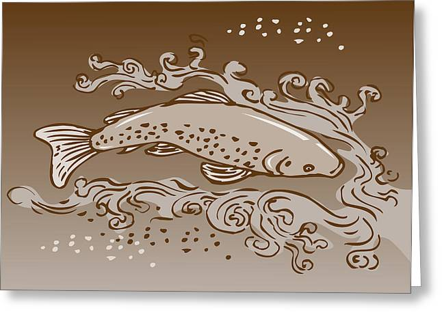 Speckled Trout Greeting Cards - Speckled Trout Fish Greeting Card by Aloysius Patrimonio