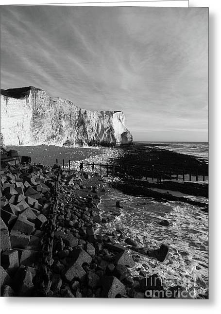 Spectacular Cliffs At Seaford Head Sussex England Greeting Card by James Brunker