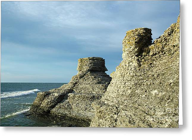Greeting Card featuring the photograph Spectacular Eroded Cliffs  by Kennerth and Birgitta Kullman