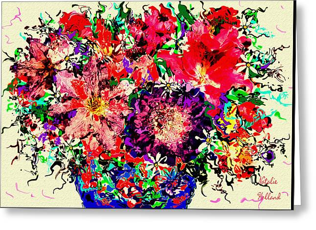 Spectacular Flowers Greeting Card by Natalie Holland