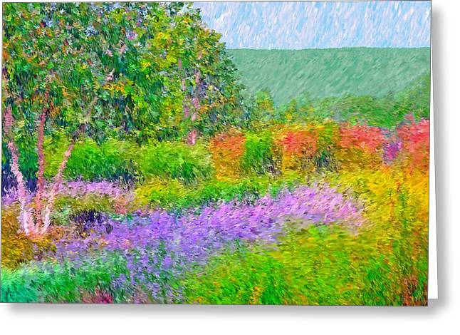Greeting Card featuring the digital art Spectacular May At The Stonewall Resort by Digital Photographic Arts