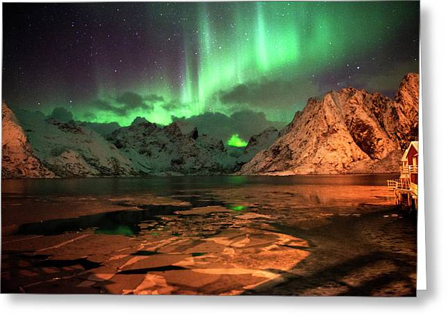 Spectacular Night In Lofoten 1 Greeting Card