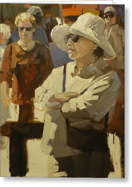 Spectators Greeting Card by David Simons