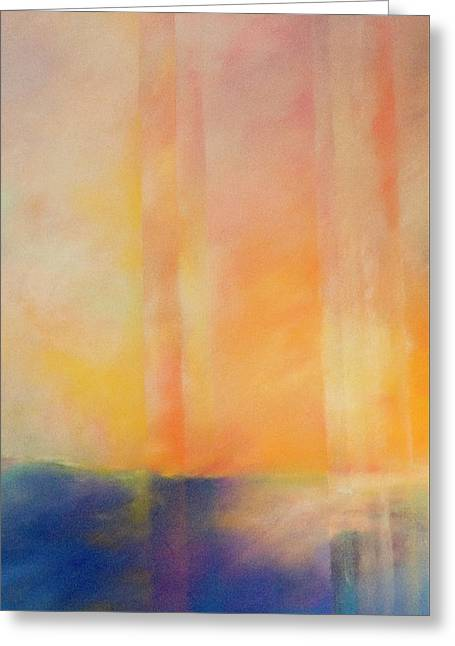 Spectral Sunset Greeting Card