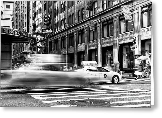 Speed In The City Greeting Card