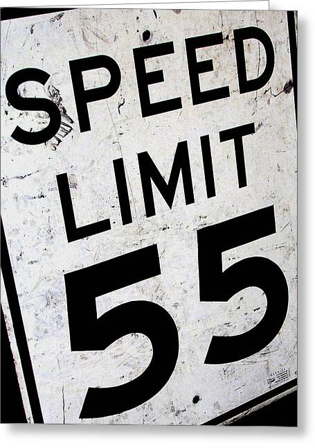 Speed Limit Greeting Card by Audrey Venute