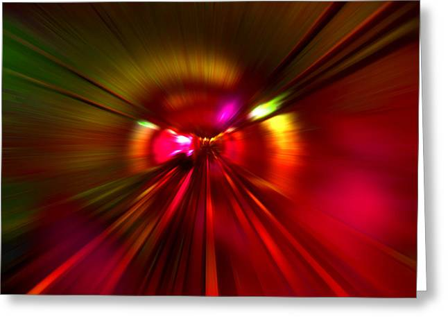 Speed - Metro Subway Train Greeting Card