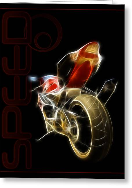 Speed Greeting Card by Ricky Barnard