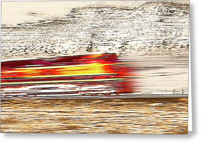 Speeding Train 1 Greeting Card by Steve Ohlsen