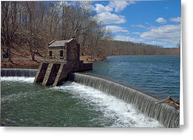 Speedwell Dam And Lake In Morristown Greeting Card