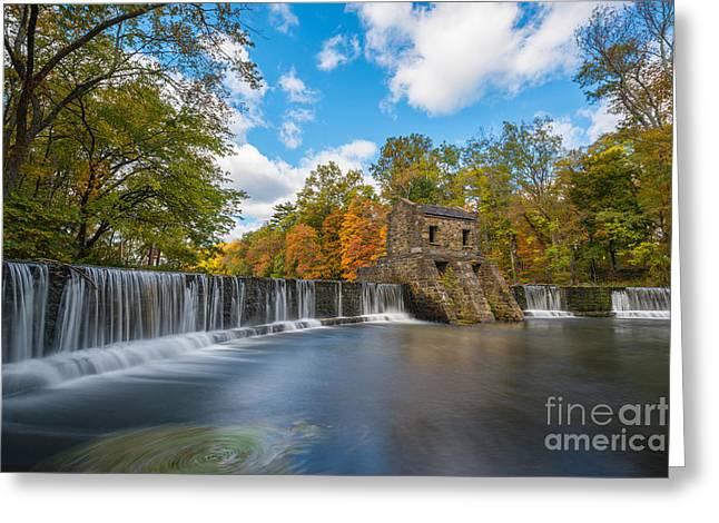 Speedwell Dam Fall Foliage Greeting Card