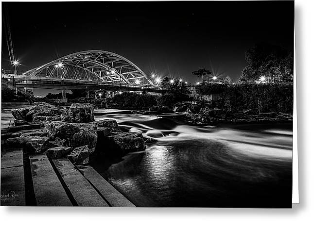 Speer Blvd. Bridge Greeting Card by Richard Raul Photography
