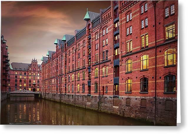Speicherstadt Hamburg Germany  Greeting Card