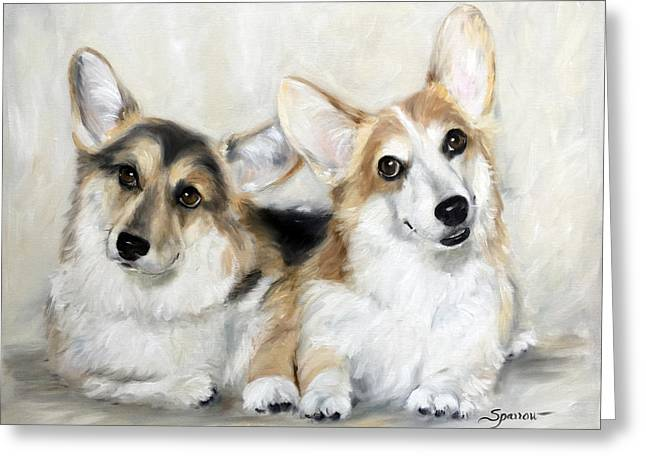Spencer And Angus Greeting Card
