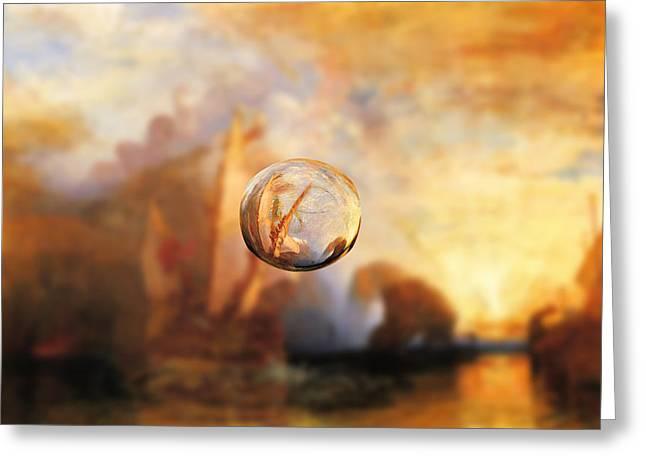 Sphere 11 Turner Greeting Card by David Bridburg