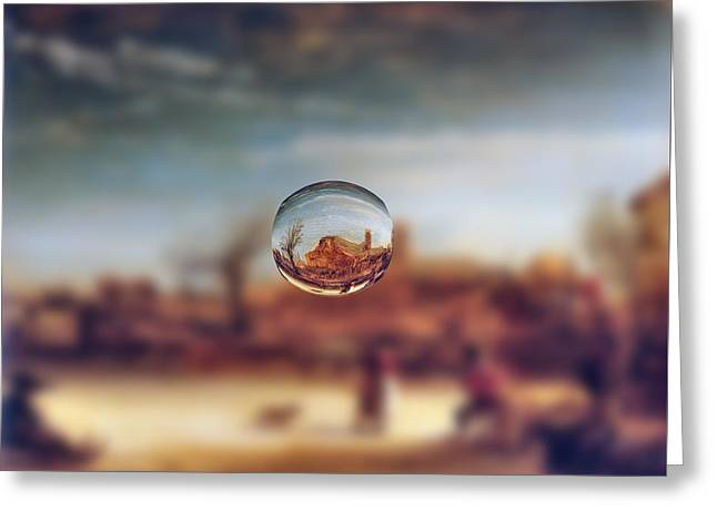 Sphere 14 Rembrandt Greeting Card by David Bridburg