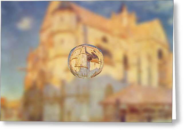 Sphere 22 Sisley Greeting Card by David Bridburg