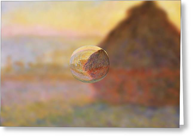 Sphere 5 Monet Greeting Card by David Bridburg