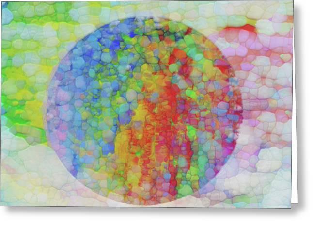 Sphere Greeting Card by Jack Zulli