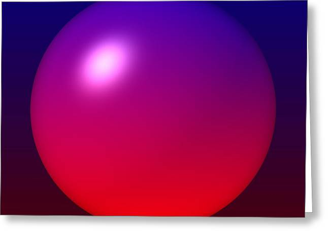 Greeting Card featuring the digital art Sphere by Lyle Hatch