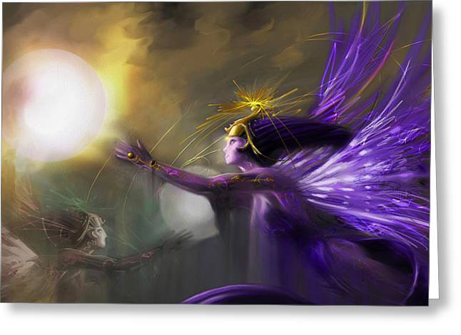 Fairies Greeting Cards - Sphere Makers of Emergging Consciousness Greeting Card by Stephen Lucas