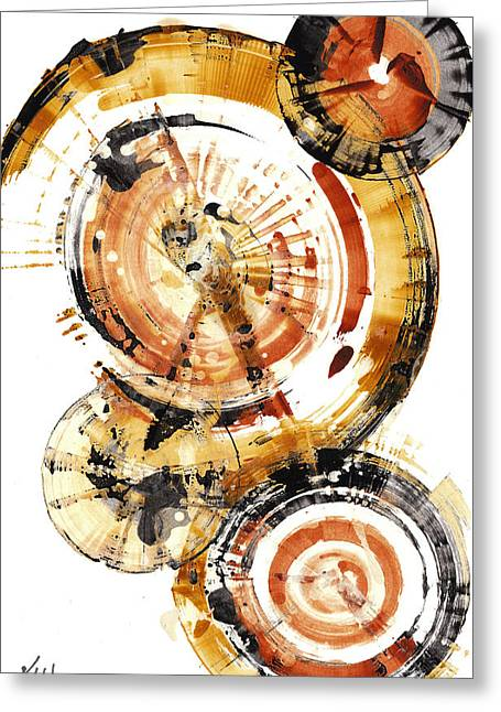 Greeting Card featuring the painting Sphere Series 1020.050112 by Kris Haas