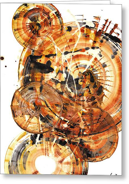 Greeting Card featuring the painting Sphere Series 1021.050212 by Kris Haas