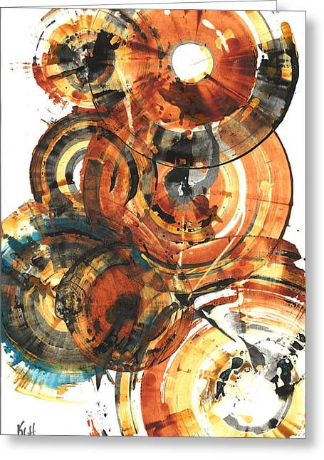 Greeting Card featuring the painting Sphere Series 1022.050212 by Kris Haas