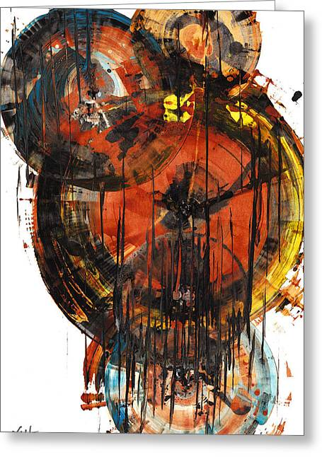 Greeting Card featuring the painting Sphere Series 1023.050312 by Kris Haas