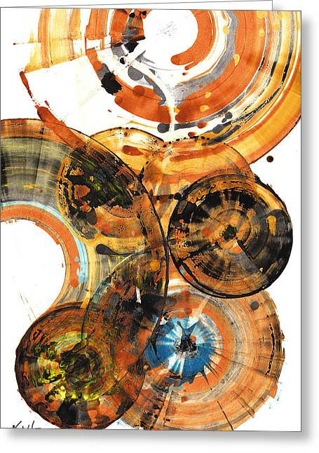 Greeting Card featuring the painting Sphere Series 1024.050312 by Kris Haas